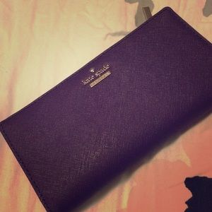 Wine colored kate spade wallet